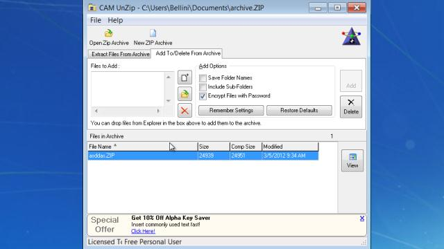 Download CAM UnZip Free