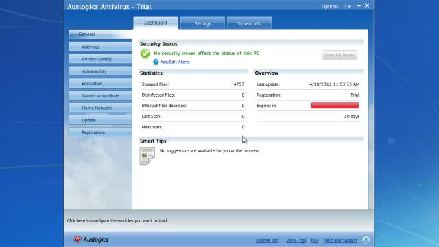 Download auslogics antivirus free.