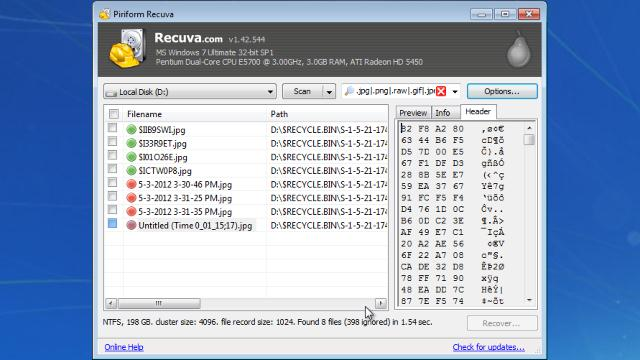recuva free download for window 10