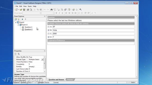 Visual CertExam Suite Publisher's Description