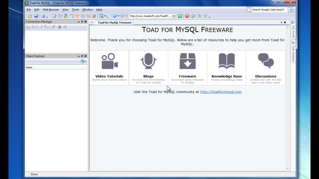 Mysql 5. 5 database backup using toad and/ or workbench 6. 1x.