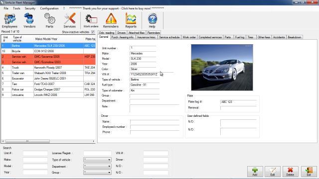 Download Vehicle Fleet Manager Free