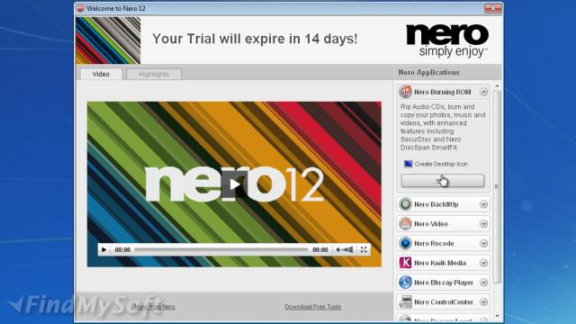 nero 12 cd dvd burner free download full version