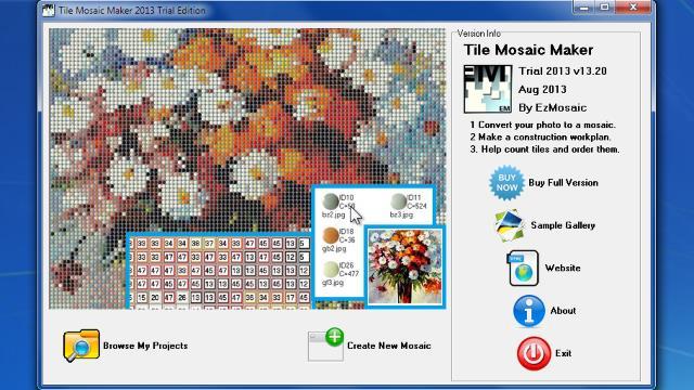 Mosaic Tile Pattern Generator