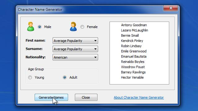 Download Character Name Generator Free