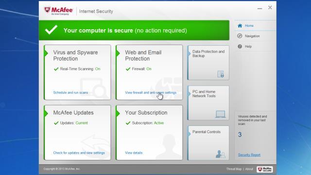 antivirus mcafee internet security free download