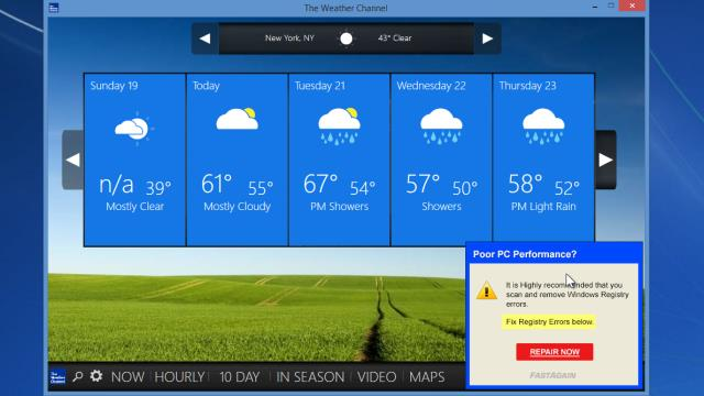 free weather app for windows vista